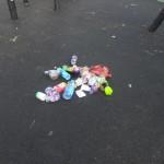 Children clean estate