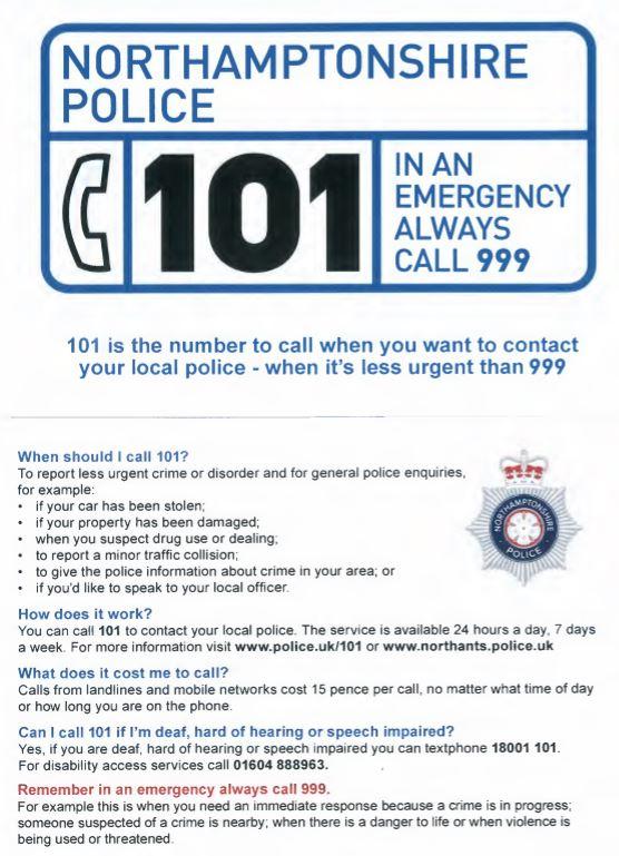 Police advice